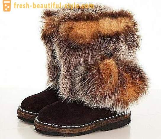 stivali feltro stile mongolo uomo